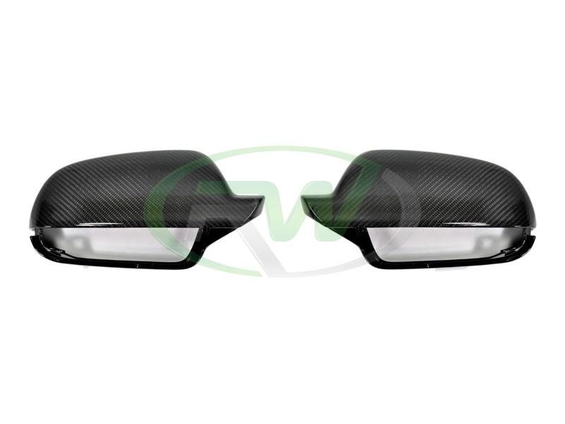 Audi B9 A4 Carbon Fiber Mirror Cover Replacements