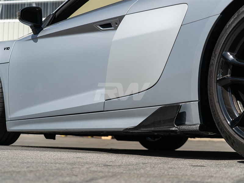 Audi R8 4S Carbon Fiber Side Skirt Winglets