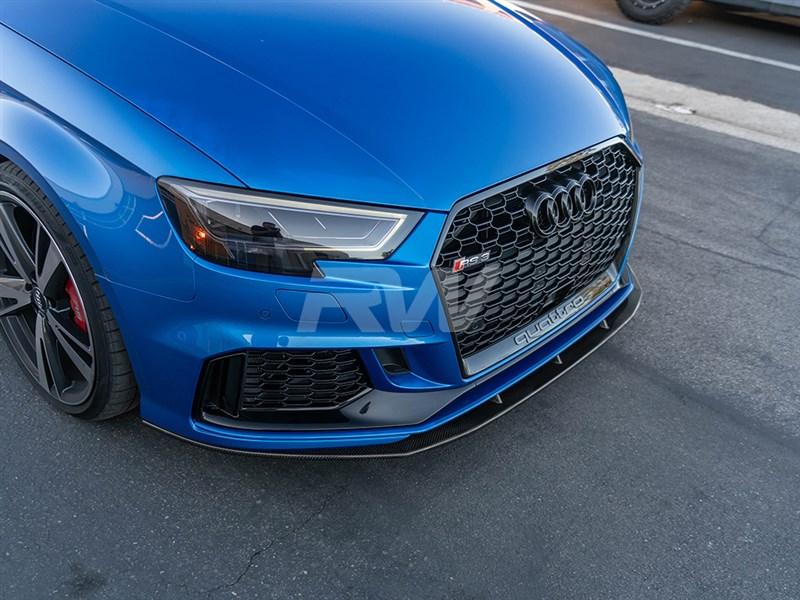 Audi 8V RS3 17+ V2 Carbon Fiber Front Lip Spoiler