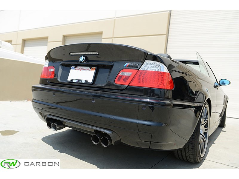 bmw e46 m3 csl style half carbon fiber rear diffuser. Black Bedroom Furniture Sets. Home Design Ideas