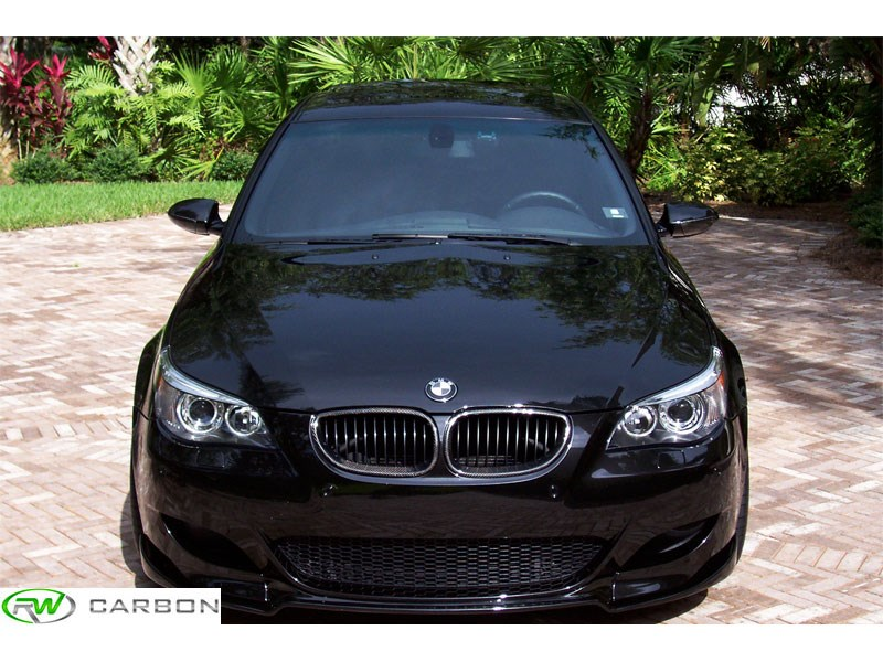 BMW E60 525 528 530 535 545 550 M5 Carbon Fiber Kidney Grilles