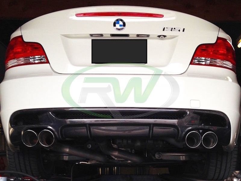 BMW Body Parts >> BMW E82 E88 128i/135i/135is Performance Style Carbon Fiber Diffuser