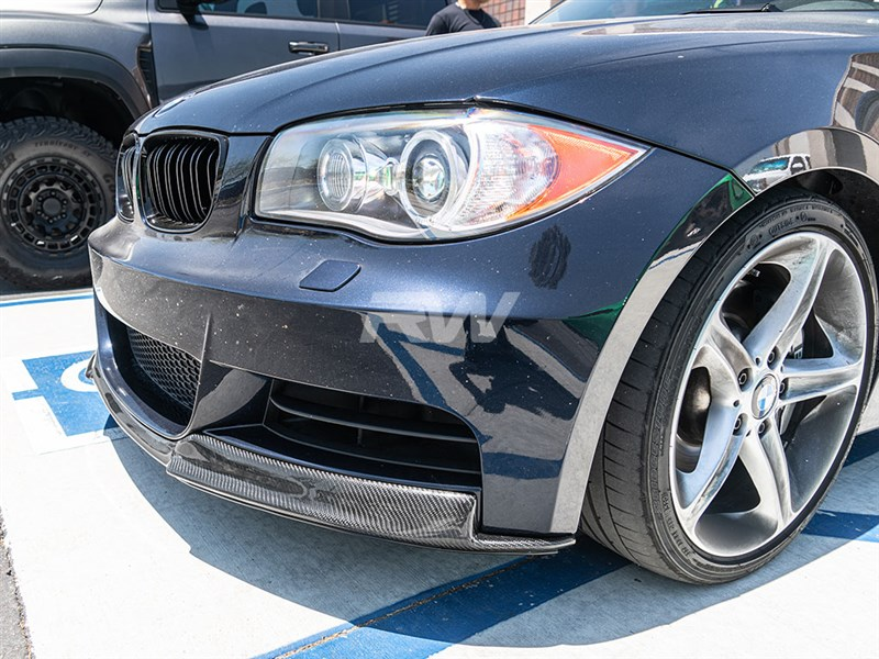 Great style and affordable price from RW carbon for the bmw e82 e88 cf front lip