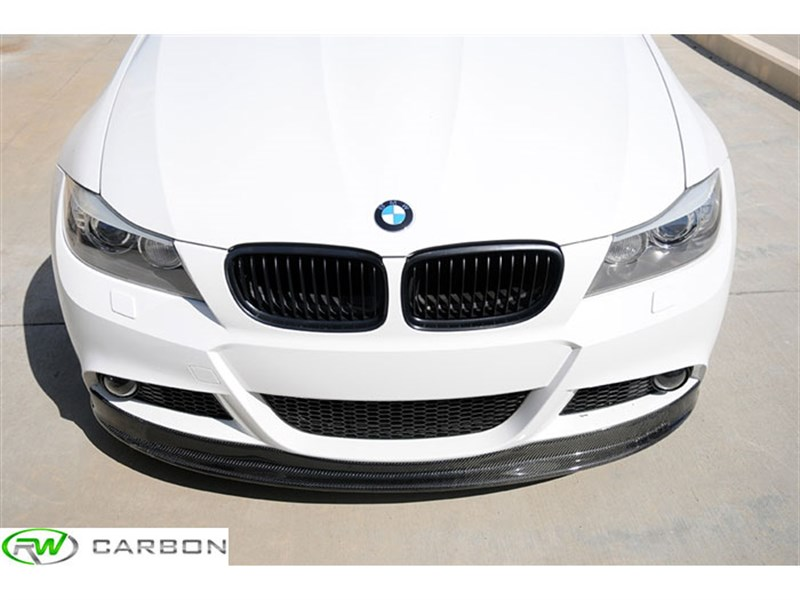 view more pictures of BMW E90 and E91 M Sport arkym style carbon fiber front lip spoiler