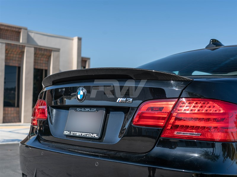 BMW E Carbon Fiber Performance Style Trunk Spoiler For I I M - 2008 bmw 335i aftermarket parts