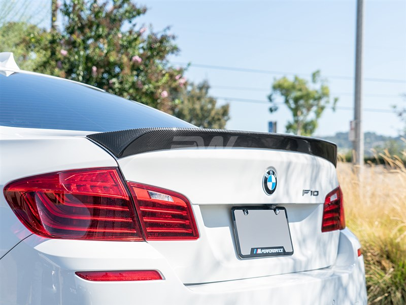 Great fitment and style from rw carbon with the bmw DTM carbon fiber trunk spoiler for f10