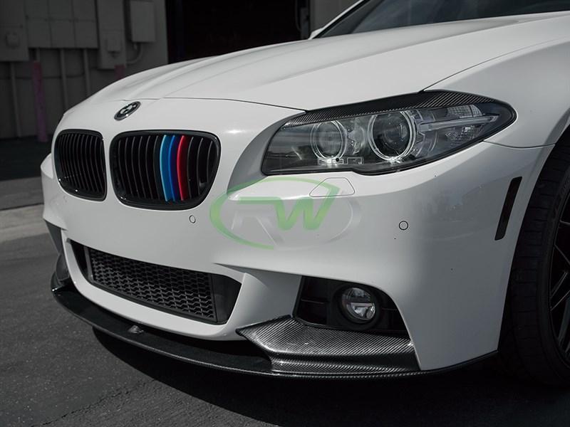 For BMW F10 M tech Sport 528 535 Carbon Fiber Rear Diffuser Spoiler OE Style