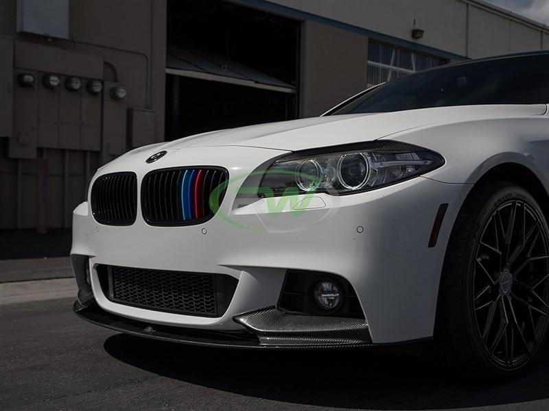 BMW F M Tech Performance Style Carbon Fiber Lip I I I - 2012 bmw 550i m sport