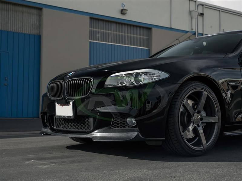 View the carbon fiber bmw f10 carbon fiber DTM front lip spoiler from RW Carbon