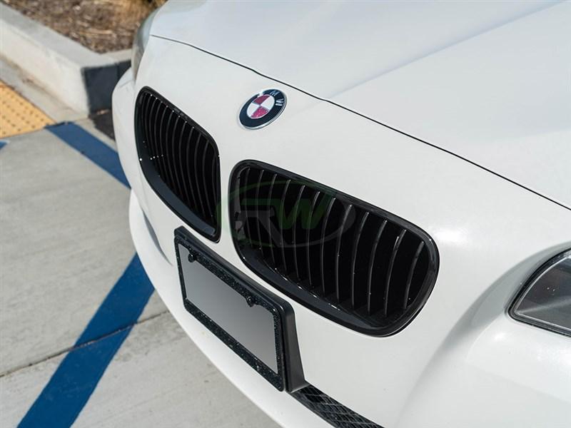 bmw f10 f11 gloss black grilles fits 528i 535i 550i m5