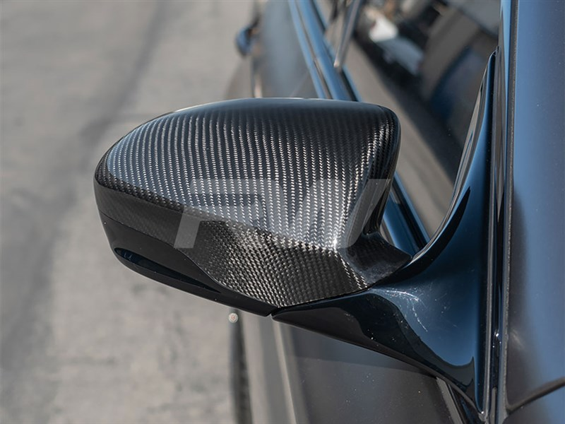 Direct replacement carbon fiber mirror covers for the F06, F12 and F13 M6