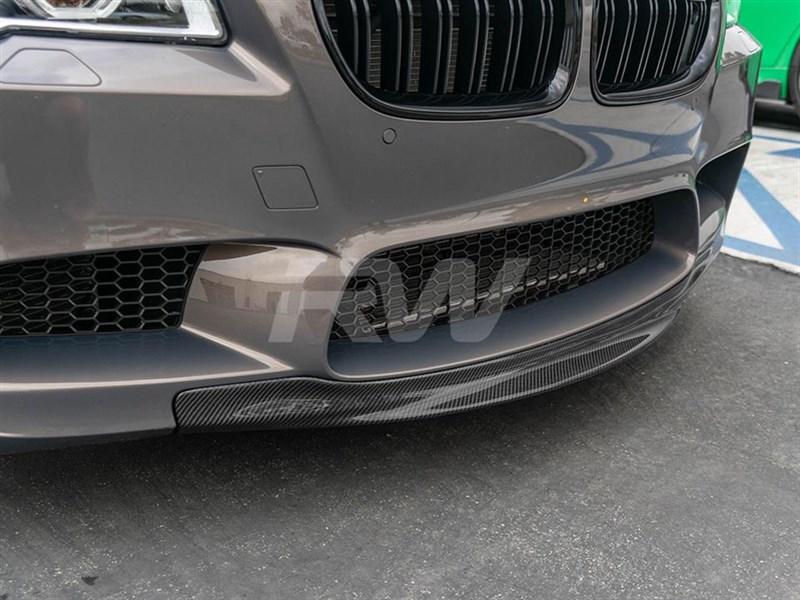 Bmw F10 M5 Rkp Style Carbon Fiber Front Lip Spoiler
