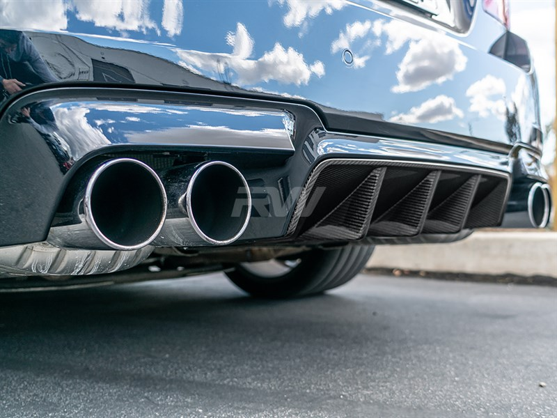 BMW F10 M5 Type I Carbon Fiber Center Diffuser