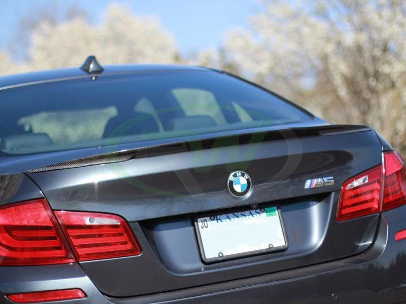 BMW F10 Performance Style Vacuum Carbon Fiber Trunk Spoiler