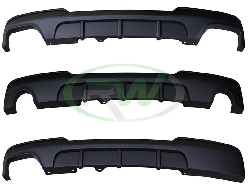 Polyproplyene BMW F10 Performance Style Rear Diffusers for 528i 535i and 550i