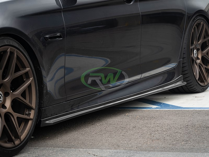 Click to view the BMW F10 M5 carbon fiber 3D style side skirt extensions
