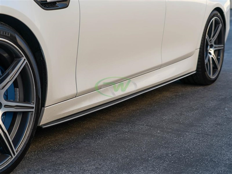 BMW F10 M5 CF Performance Style Side Skirts