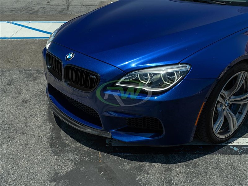 BMW F06 F12 F13 M6 Center Carbon Fiber Front Lip by RW Carbon