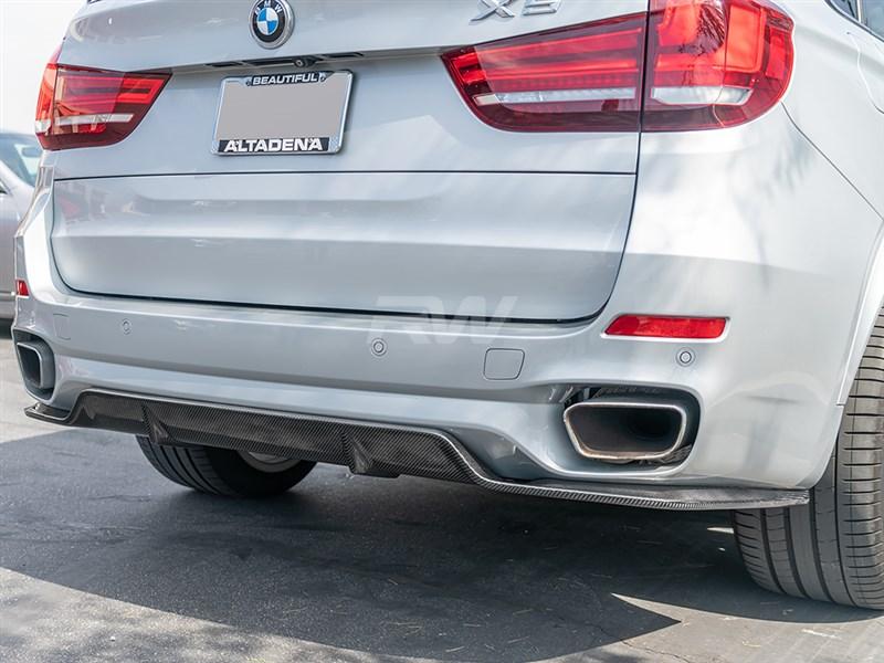 BMW F15 X5 M Sport 3D Style Carbon Fiber Diffuser