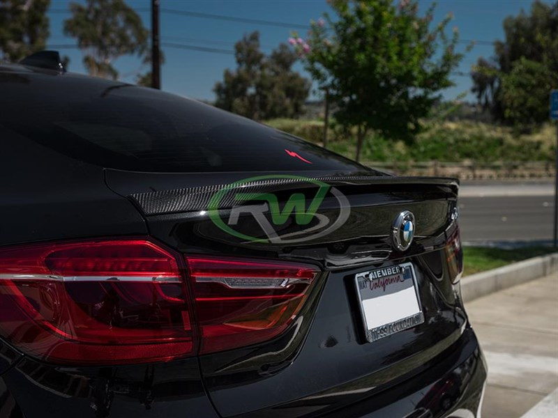 Carbon fiber performance style trunk spoiler for B<W F16 X6 and F86 X6M