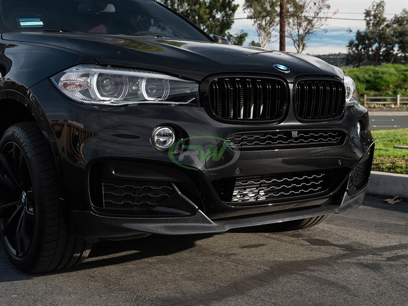 New carbon fiber front lip spoiler now available for the BMW F16 X7 M Sport