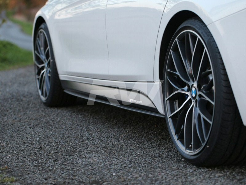 Click here to view carbon fiber side skirt extensions for for BMW F30 328i 328d or 335i M Sport