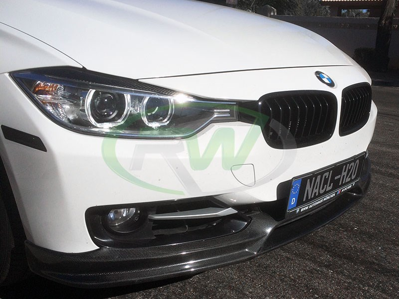 3d design style carbon fiber lip for f30 and f31 sportline 320i 328i 335i