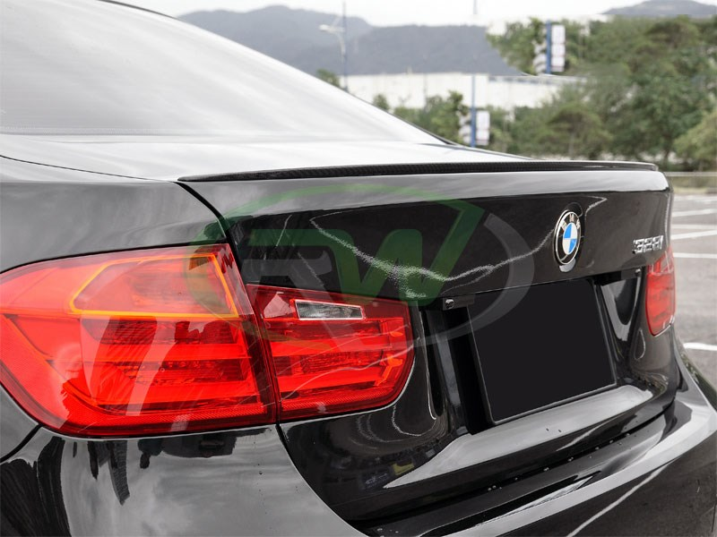 BMW F30 M3 Style Carbon Fiber Trunk Spoiler