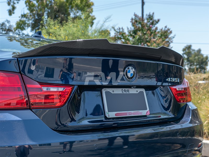 View the new GTX carbon fiber trunk spoiler for the bmw f32 4 series