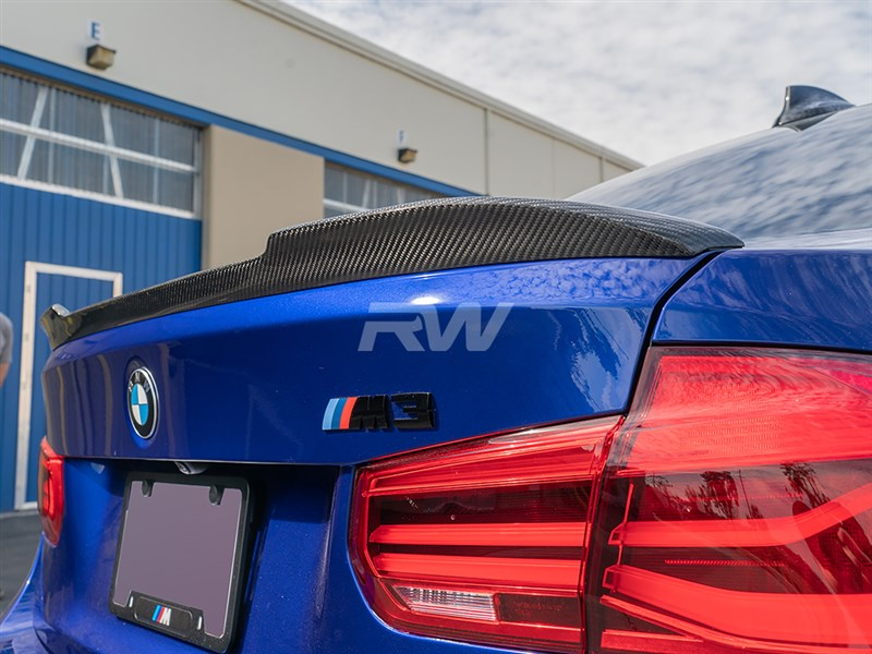 BMW F30 F80 M3 CS Style CF Trunk Spoiler