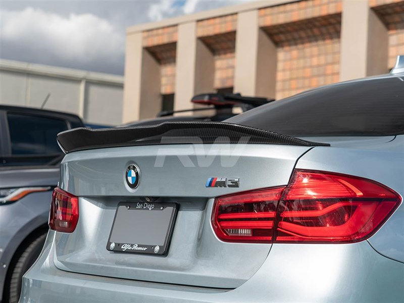 Try out our new GTX CF trunk spoiler for your BMW F30