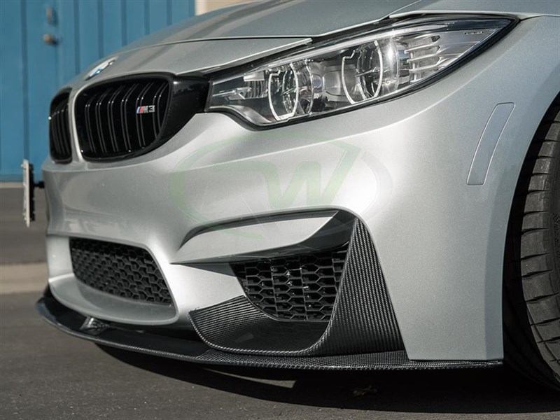 BMW F80 F82 F83 M3 M4 Performance Style CF Lip Spoiler from RW Carbon