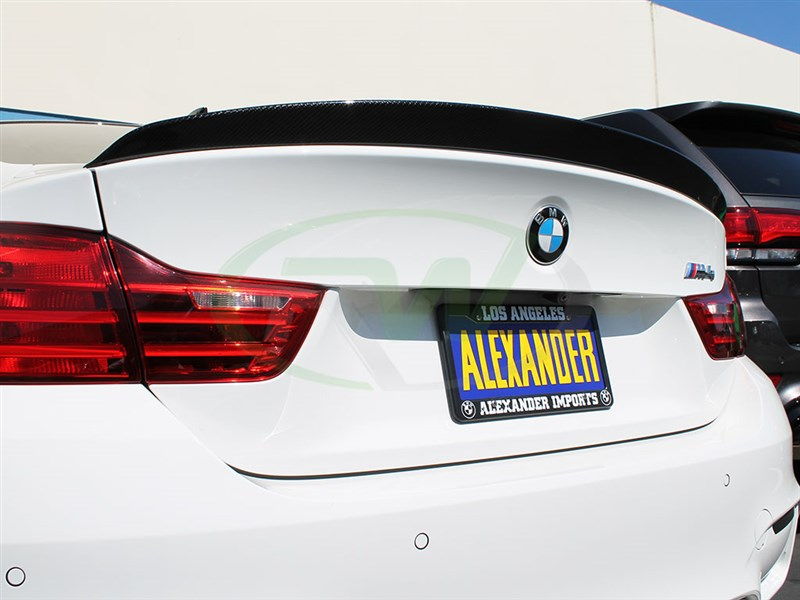 Click to view the BMW M4 3D style carbon fiber trunk spoiler