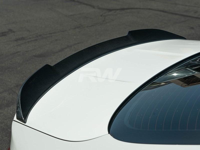 BMW F82 M4 carbon fiber cs style trunk spoiler