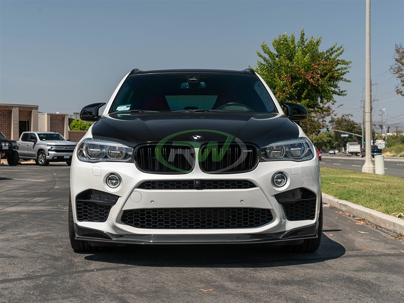 Bmw F85 X5m F86 X6m Carbon Fiber Front Lip Spoiler 2015