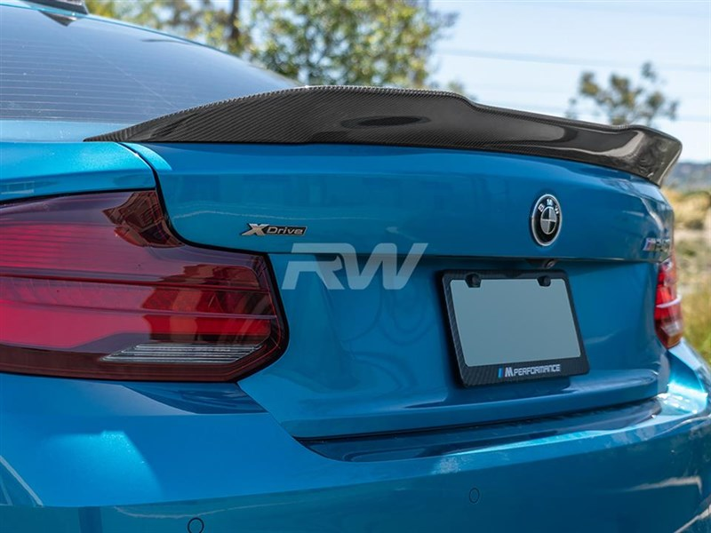 Finish off your F87 M2 with a gtx carbon fiber trunk spoiler