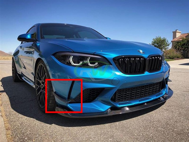 BMW F87 M2 Competition Carbon Fiber Canards