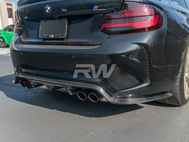 BMW F87 M2 Comp 3D Style Rear Diffuser at RW