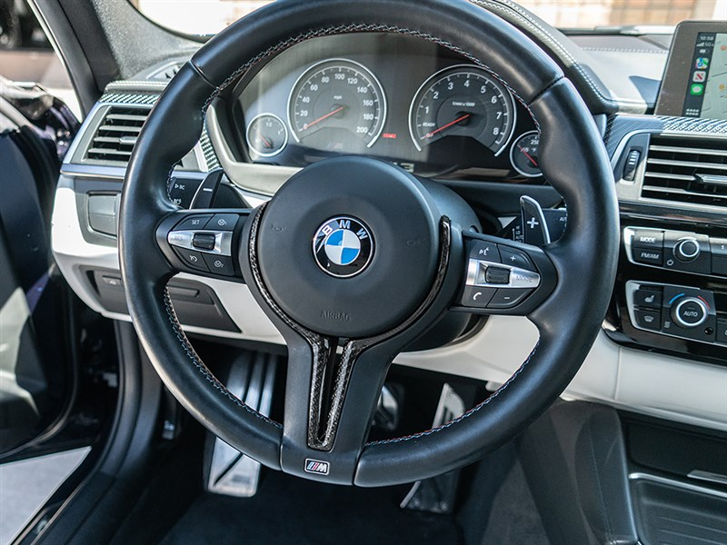 Click to the view RW Carbons's CF steering wheel trim for the BMW F87 M2