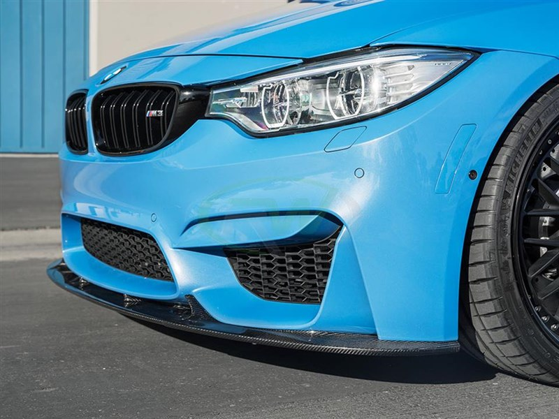 Click to view the BMW M3/M4 carbon fiber 3d style front lip spoiler