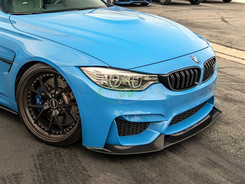 Click to view the BMW M3/M4 carbon fiber varis style front lip spoiler