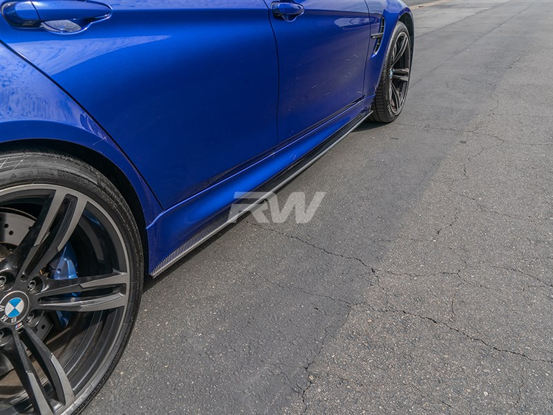 RW Carbon now carries carbon fiber side skirt extensions for the BMW F80 M3