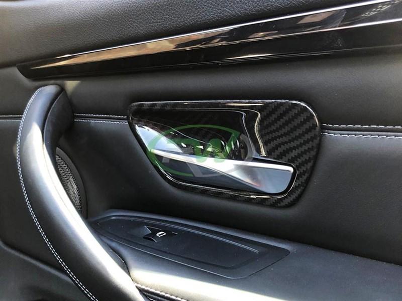 Carbon Fiber Door Handle Trims Bmw F30 F31 F32 F33 F36 F80