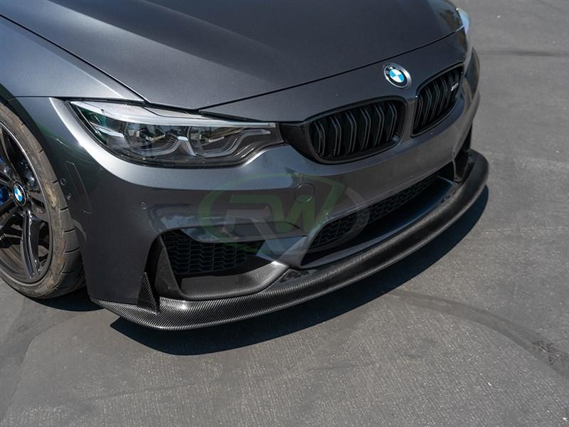 Bmw F80 M3 F82 F83 M4 Ens Style Carbon Fiber Front Lip Spoiler