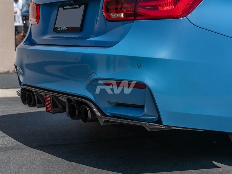 Kohlen Style carbon fiber diffuser for BMW F80 M3 F82 F83 M4