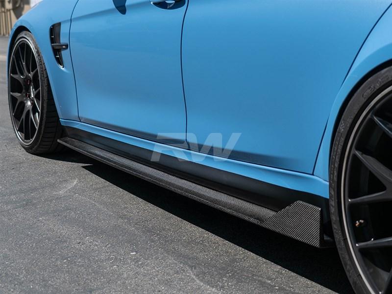 BMW F80 M3 RWS Type I CF Side Skirt Extensions