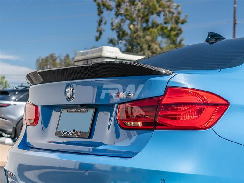 Get your BMW F80 M3 RWS Carbon Fiber Trunk Spoiler today