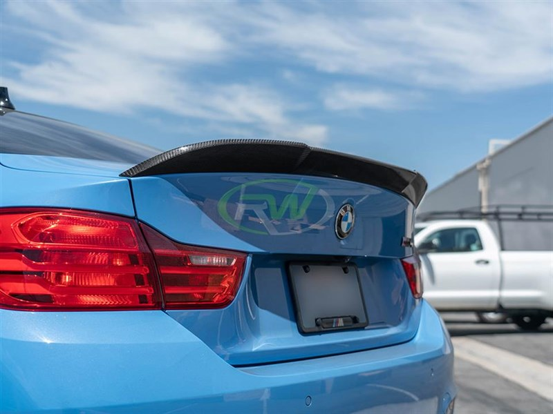 BMW F82 M4 RWS Carbon Fiber Trunk Spoiler