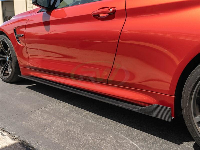 BMW F82/F83 M4 RWS CF Side Skirt Extensions