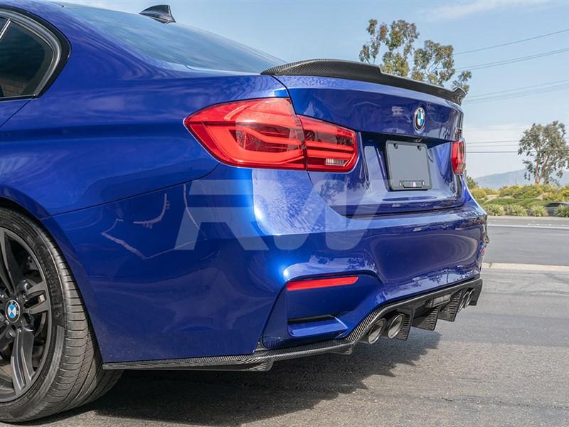 BMW F8x M3 M4 RWS Carbon Fiber Diffuser